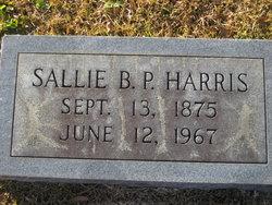 Sallie B <I>Peebles</I> Harris