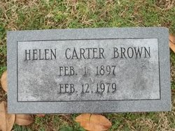 Helen <I>Carter</I> Brown