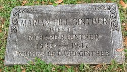 Marion Louise <I>Hill</I> Ginther