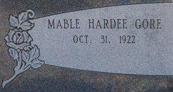 Mable <I>Hardee</I> Gore