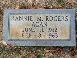 Rannie M. <I>Rogers / Agan</I> Wallace
