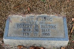 Addie E. <I>Long</I> Helton