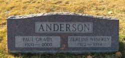 Zerline <I>Winfrey</I> Anderson