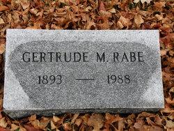 Gertrude Marie <I>Schafer</I> Rabe