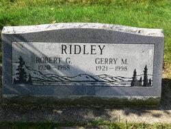Robert G Ridley