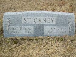 Mary Jane <I>Cherry</I> Stickney