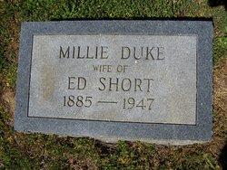 Millie McDonald <I>Duke</I> Short