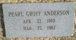 Pearl <I>Groff</I> Anderson