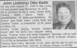 "John Otto ""Johnny"" Keith"
