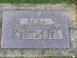 Helen C Ricks