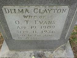 Delma <I>Clayton</I> Evans