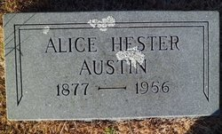 Alice <I>Hester</I> Austin