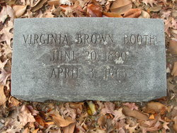 Virginia <I>Brown</I> Booth
