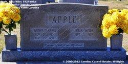 Julia Anne <I>Miles</I> Apple