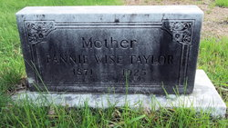 Fannie <I>Wise</I> Taylor