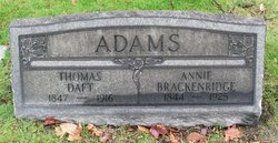 Annie <I>Brackenridge</I> Adams