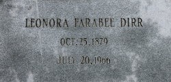 Leonora Maude <I>Farabee</I> Dirr