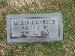Margaret E Church
