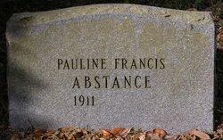Pauline <I>Francis</I> Abstance