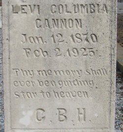 "Levi Columbia ""Lee"" Cannon"