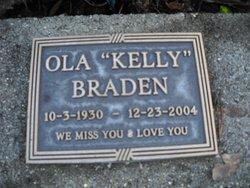 """Ola Mae """"Kelly"""" <I>Gast</I> Braden"""