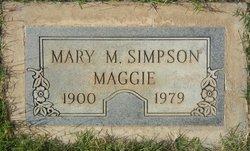 """Mary Magdaline """"Maggie"""" <I>Smith</I> Simpson"""