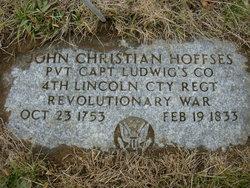 """Johann Christian """"John"""" Hoffses"""