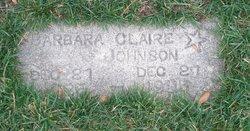 Barbara Claire Johnson