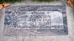 Winona Valentine <I>Webster</I> Johnson