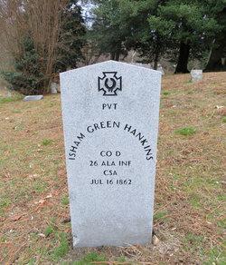 Pvt Isham Green Hankins
