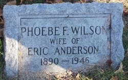 Phoebe F <I>Wilson</I> Anderson
