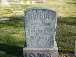 Hannah <I>Mortenson</I> Matson