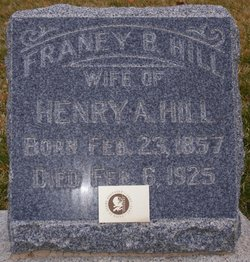 """Verena """"Franey"""" <I>Bachman</I> Hill"""