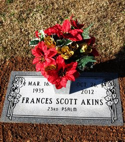Frances Mattie Lou <I>Scott</I> Akins