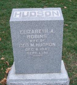 Elizabeth Ann <I>Robins</I> Hudson