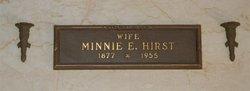 Minnie E. Hirst