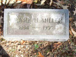 "Frances Folsom ""Fannie"" <I>Hammond</I> Miller"