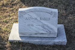 Aley Ann <I>Wadsworth</I> Baker