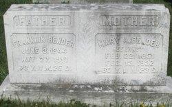 Mary A <I>Ernst</I> Bender