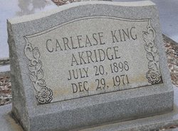 Carlease <I>King</I> Akridge