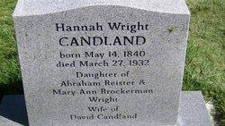 Hannah Ann <I>Wright</I> Candland