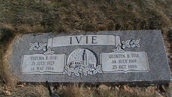 Thelma Effie <I>Walker</I> Ivie