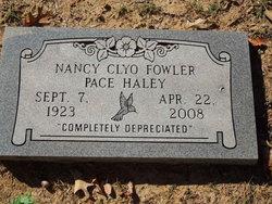 Nancy Clyo <I>Fowler Pace</I> Haley