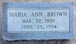 Maria Ann <I>Elder</I> Brown
