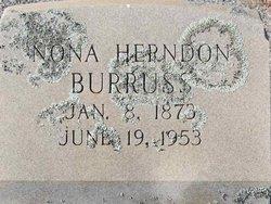 """Verona L """"Nona"""" <I>Herndon</I> Burruss"""