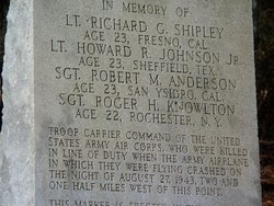 Army Fliers Memorial Marker