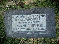 Hannah B Helman