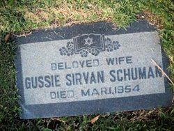 Gussie <I>Sirvan</I> Schuman