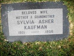 Sylvia <I>Asher</I> Kaufman