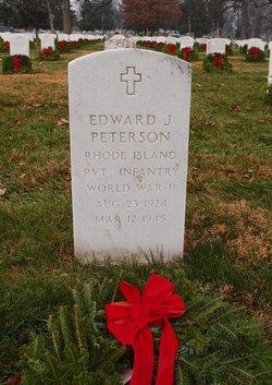 PVT Edward J Peterson